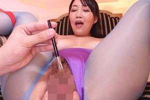 桐島美奈子 巨乳熟女が拘束されクリトリスを子ブラシで弄られる